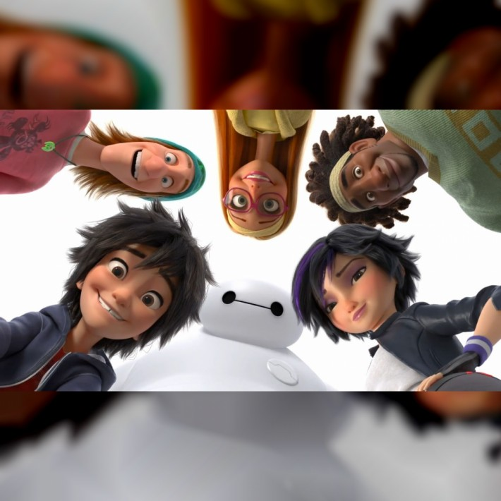 Big Hero 6 Characters Looking Down 1